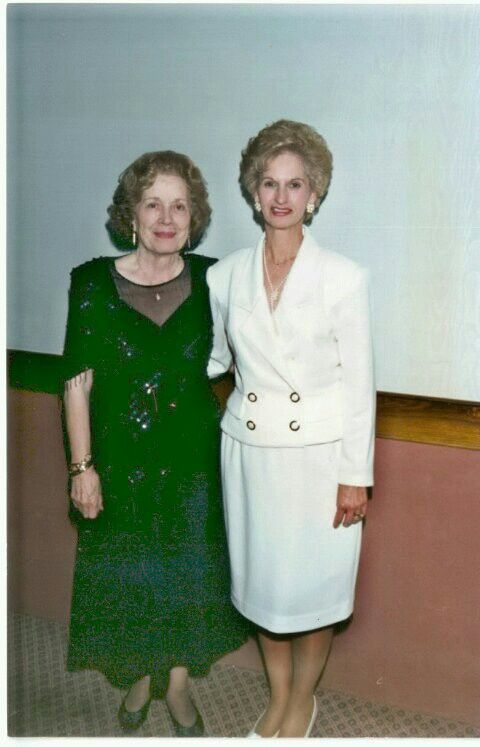 This is my grandmother on the left(miss charleston) and my mother