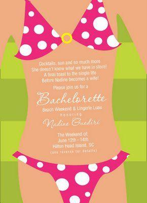 beach bachelorette invitation hahaha too cutesy?? | Bachelorette ...