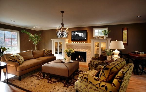 Inviting Deep Brown Living Room From The Blog I M Loving Rooms 3