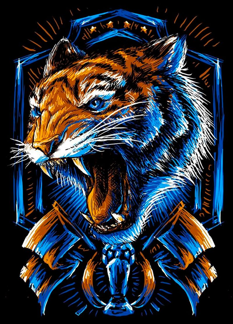 Cocinar Tigres Incomparables X Tigres Uanl On Behance Dragones En 2019 Tigres