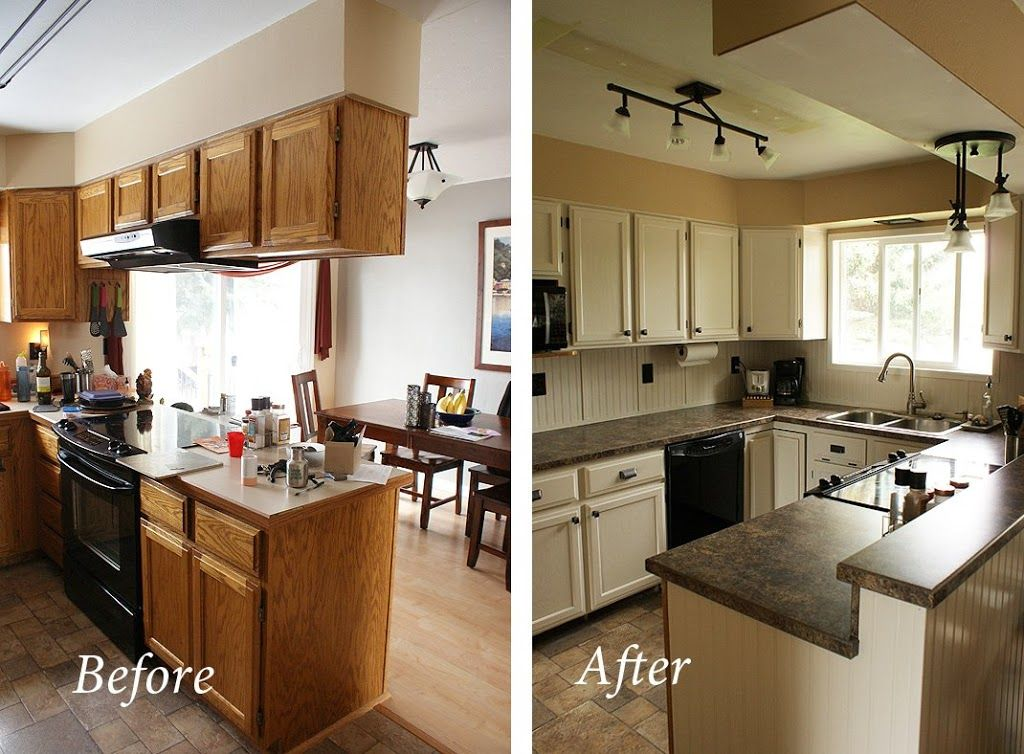 My inexpensive diy kitchen remodel the before and after re use it my cheap diy kitchen remodel solutioingenieria Gallery
