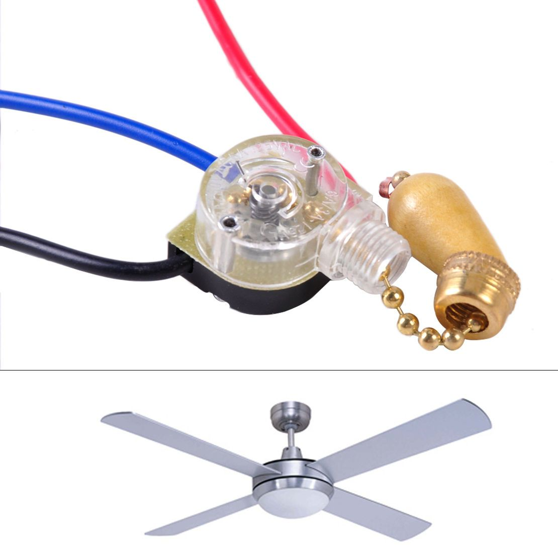 wires ceiling fan wall light lamp replacement pull chain cord