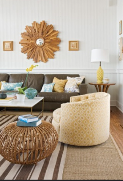 Design Dilemma How to Decorate Around a Brown Leather Sofa
