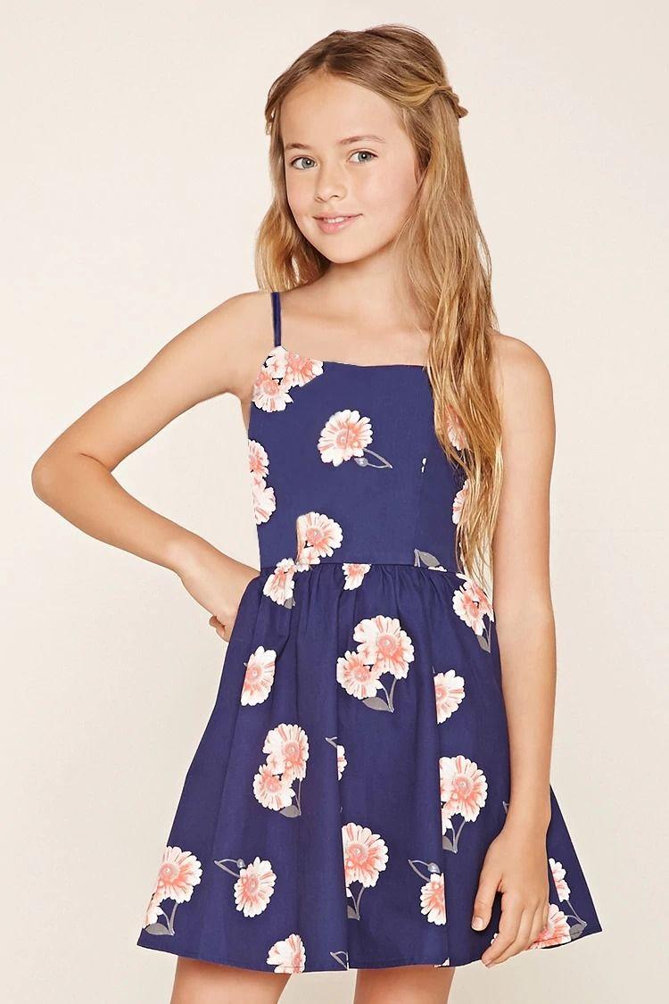 68e74645 Girls Floral Cami Dress (Kids) #F21kids | forever21 | girls ...
