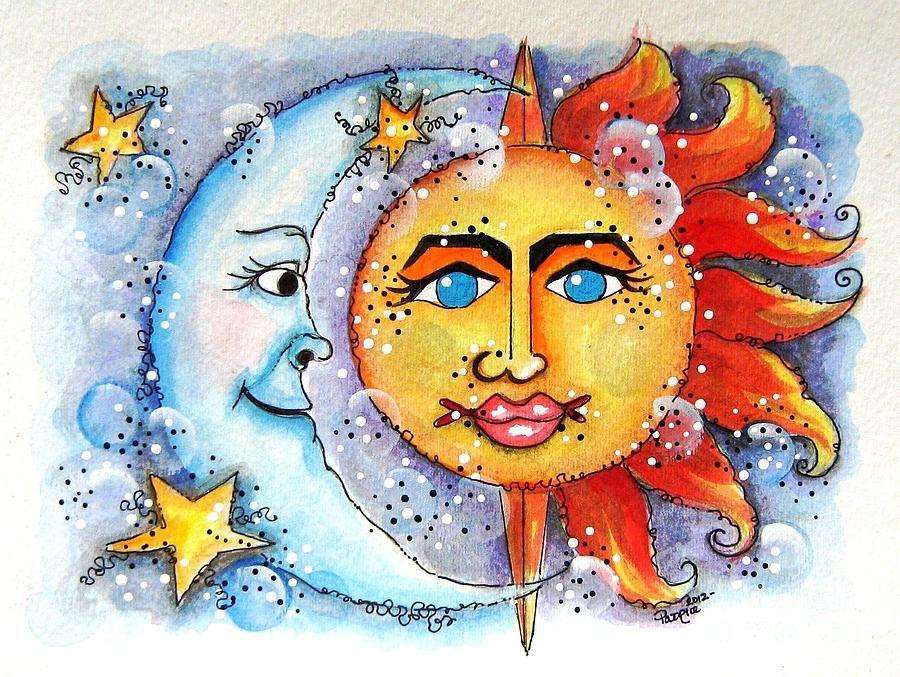 Картинки с изображением солнца звезд луны, картинки символом года