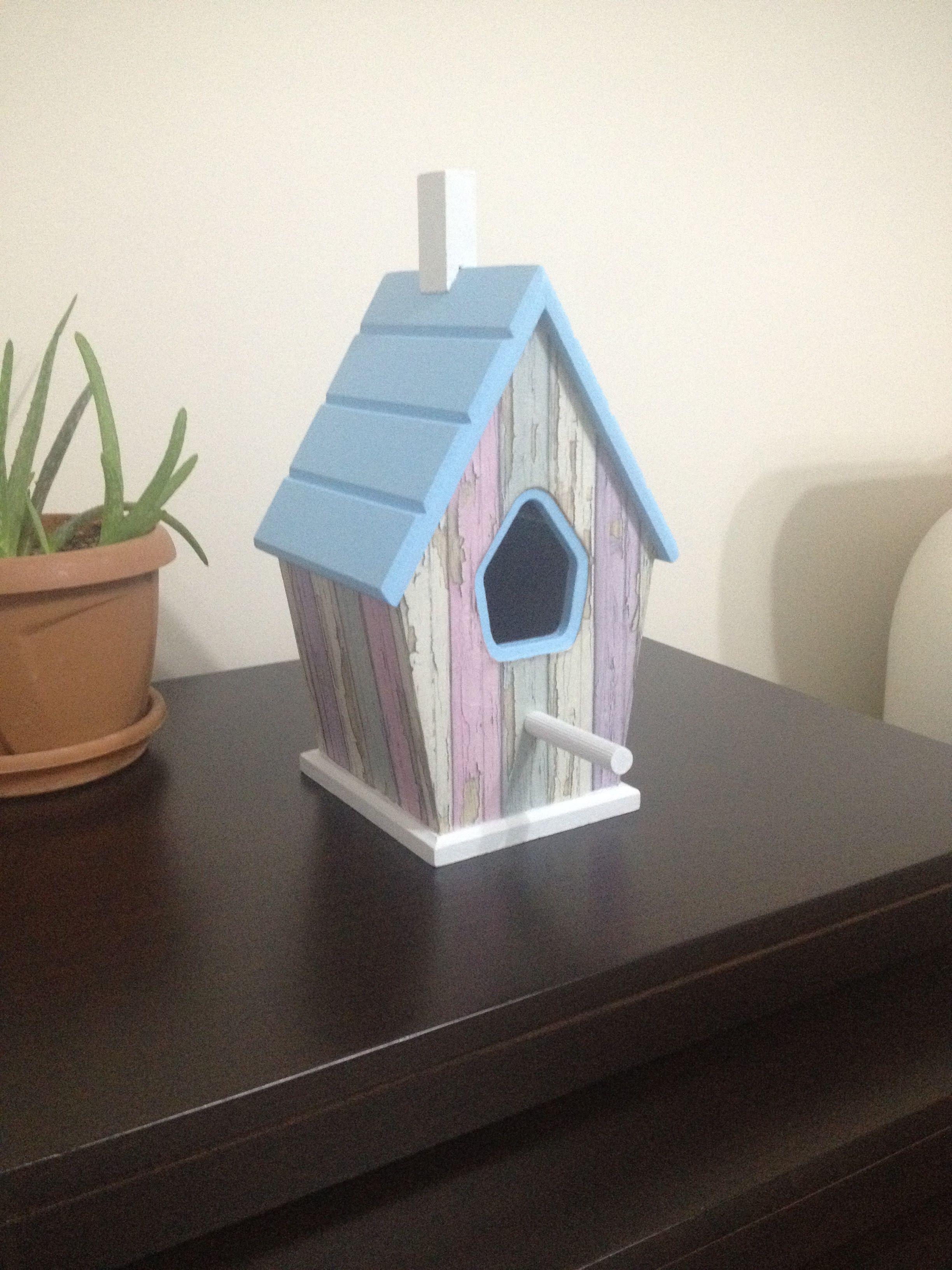 Kuş Evi Ahşap Boyama Zişanın Dünyası Pinterest