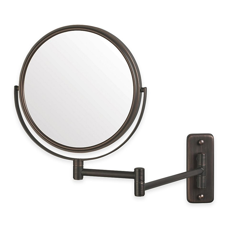 Jerdon 5x 1x 2 Sided Round Wall Mount Mirror In Bronze Wall