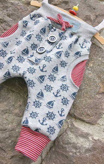 Nadelzauber: Maritime Babyhose   Nähen   Pinterest   Nähen, Baby und ...