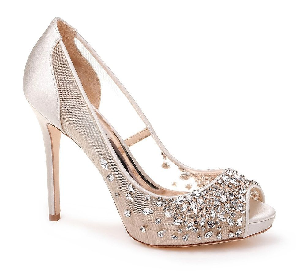 Peep toe wedding shoes, Peep toe pumps