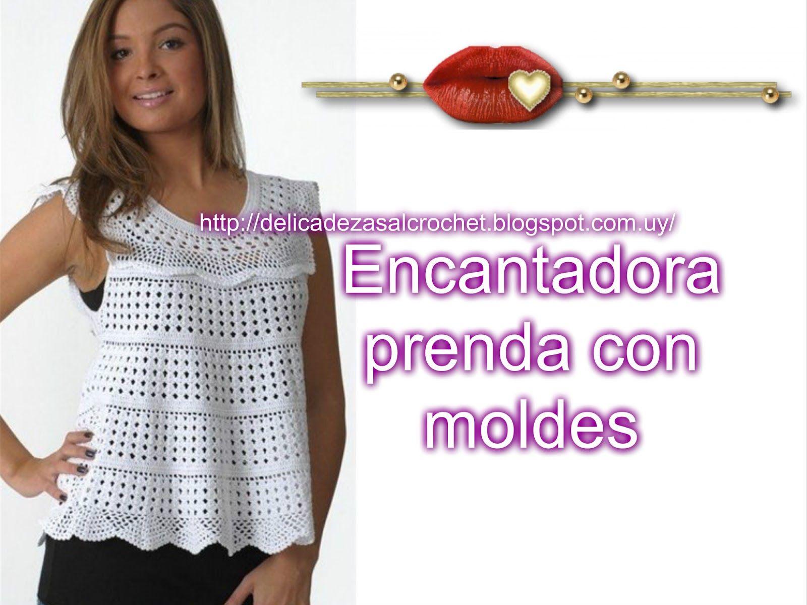 Delicadezas en crochet Gabriela: Musculosa | tejido para señoras ...