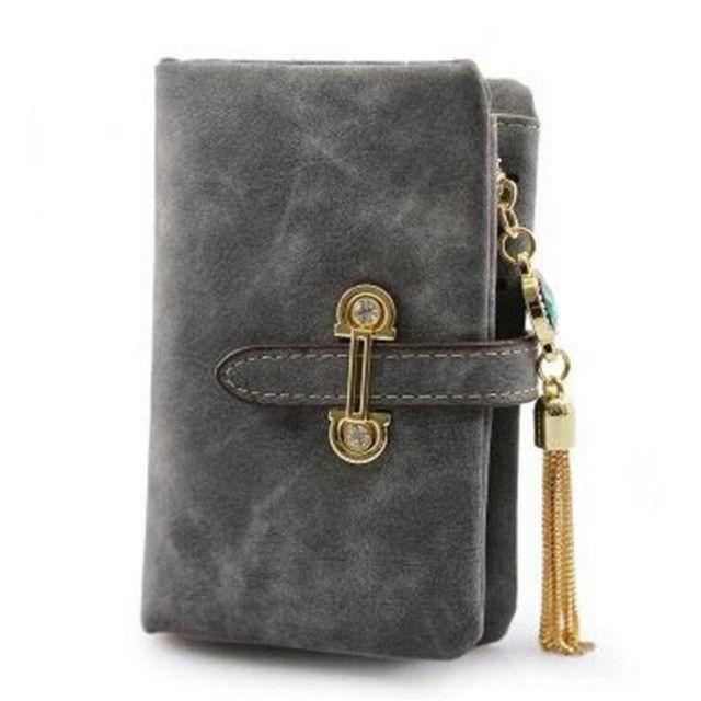 BVLRIGA Nubuck Leather Wallet Women Long Purses Tassel Designer Women Clutches Wallets Money Clip High Quality Women Wallets