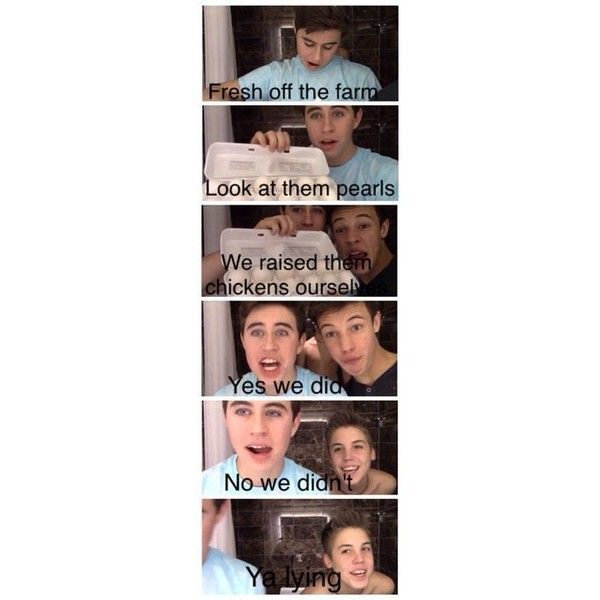 Nash/Vine Boys ❤ liked on Polyvore featuring magcon