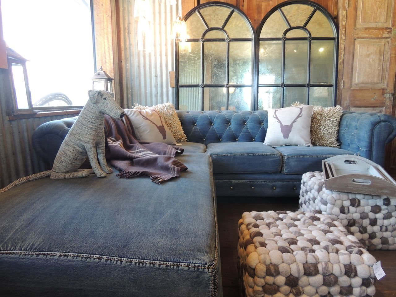 The Latest Trends In Denim Clothing And Design Sectional Sofa Slipcovers Denim Sofa Denim Couch