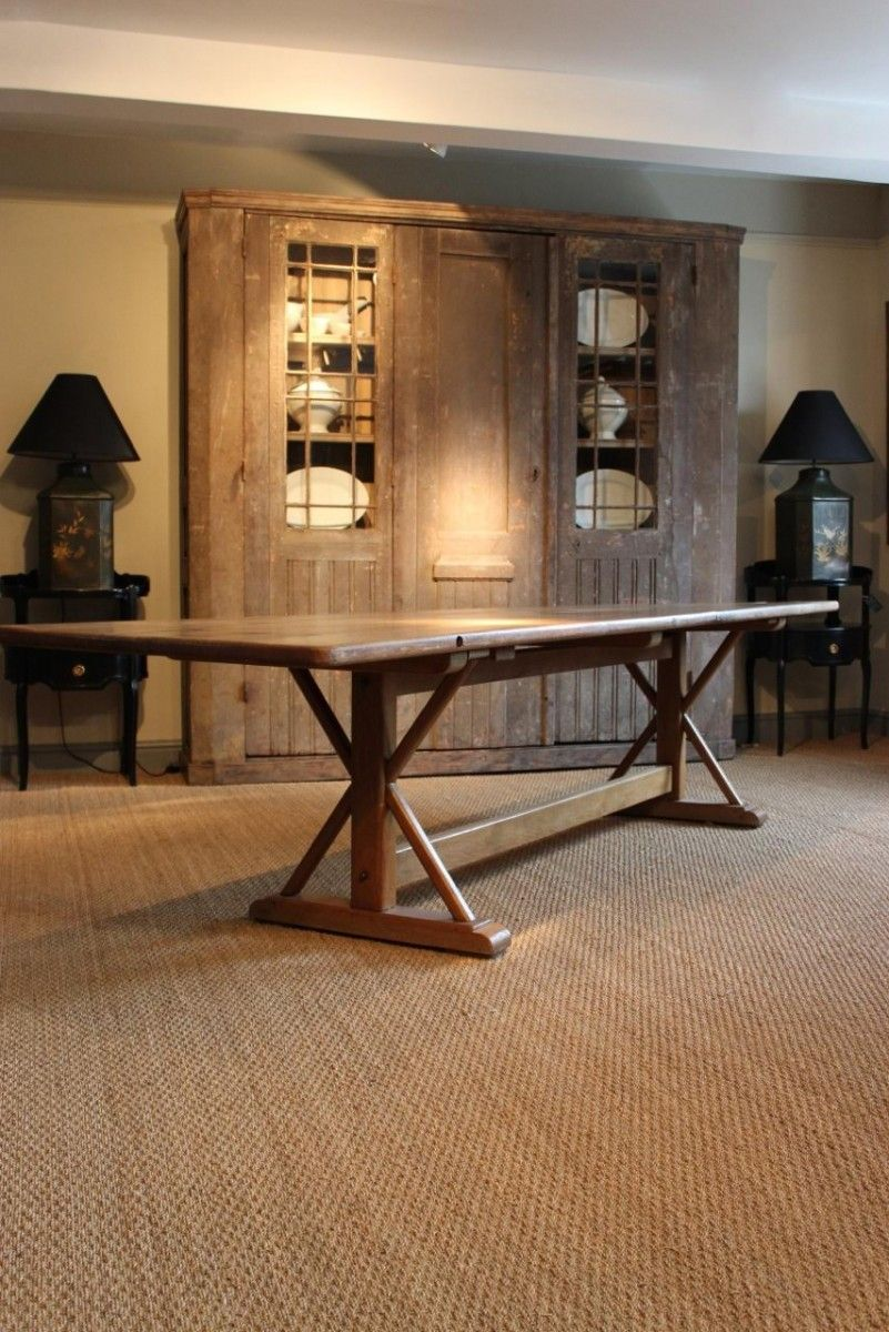 Large French Oak Farmhouse Dining Table Farmhouse dining