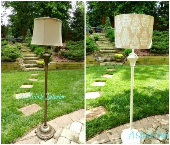 This Old Lamp Makeover Lamp Makeover Diy Floor Lamp Floor Lamp Makeover