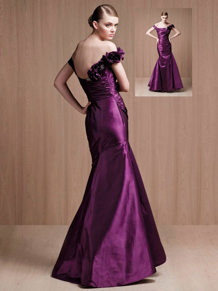 Plum offtheshoulder mermaid long evening prom dress my favorite