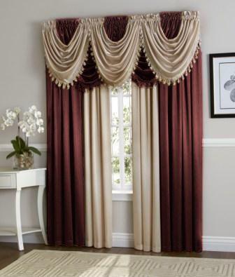 Hyatt Curtain Set Purple Plum Antique Taupe Curtain Decor Dining Room Curtains Curtains