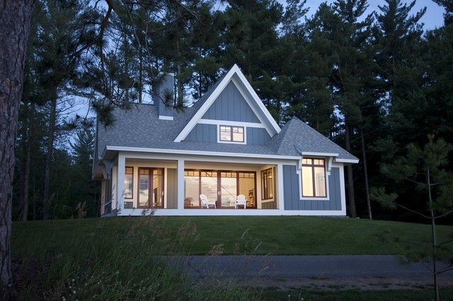 Big windows lots of light minimalist cottage plans for House plans with large front windows