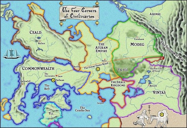 Name Of The Wind Map The Name of the Wind's world Map | The kingkiller chronicles