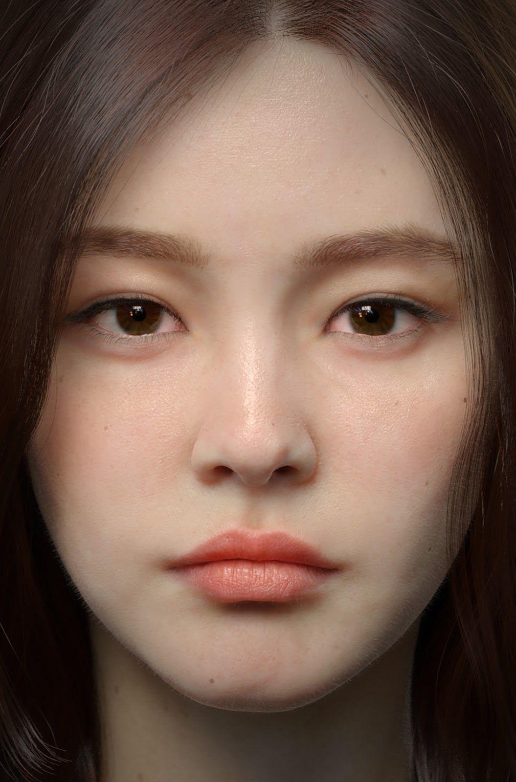 paint photo, qiang zhou   Portrait, Face, Digital portrait
