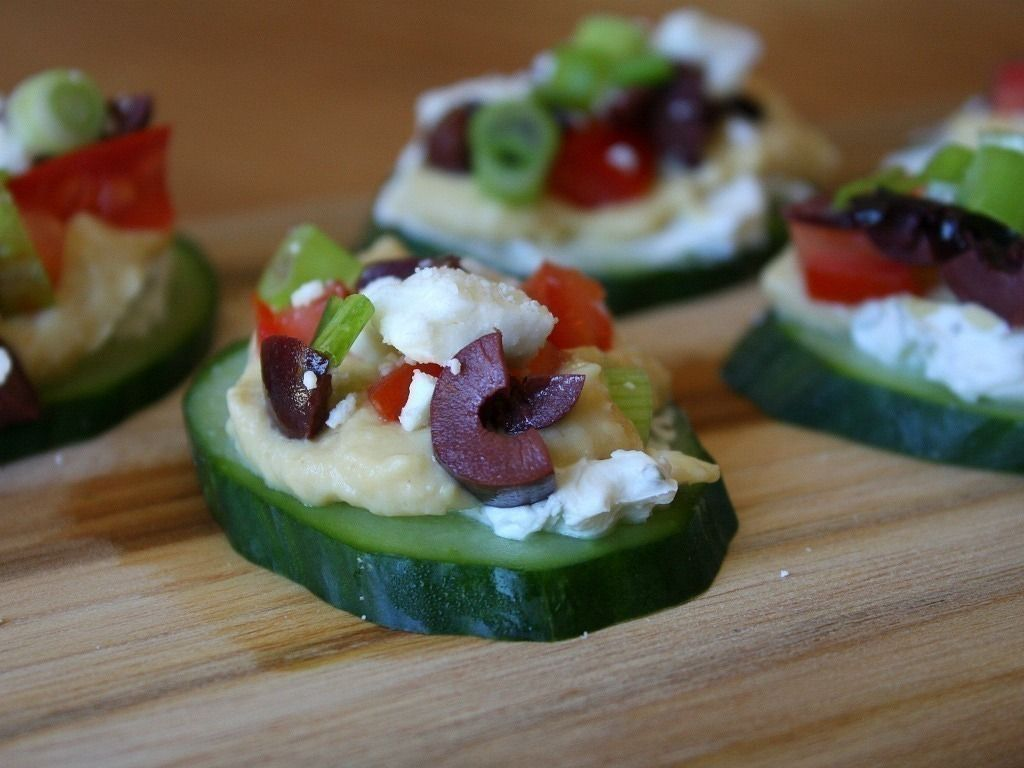 Gojee - Greek Salad Cucumber Bites  by Recipe Girl