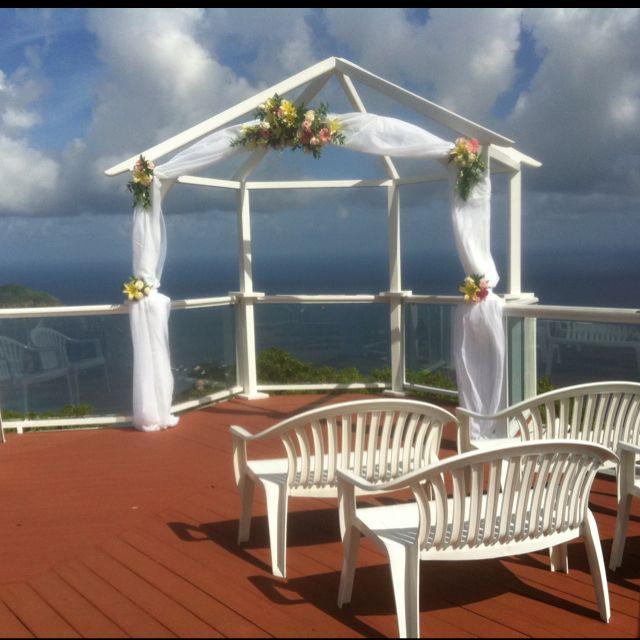St Peter Mountain Great House Thomas Usvi Decorated Gazebo Weddings The Island