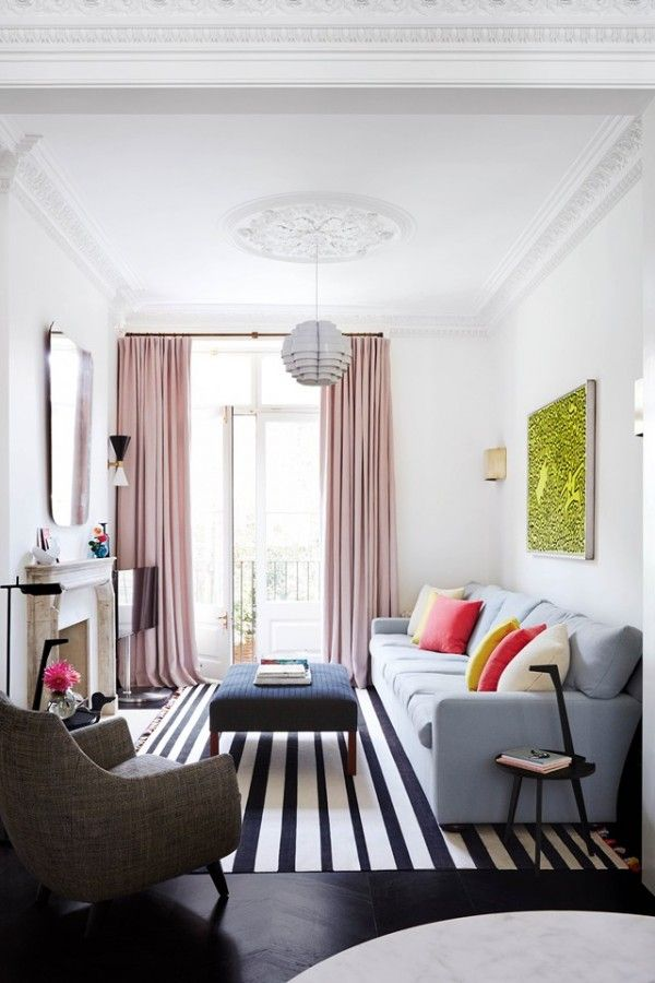 Notting Hill #townhouse Living Room With Colorful #modern Details