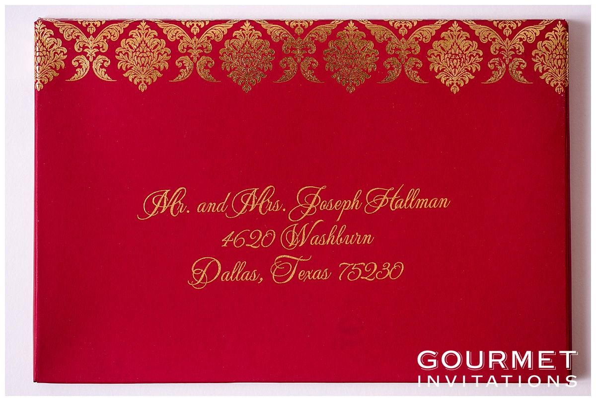 Velvet Wedding Invitations | Gold calligraphy and Weddings