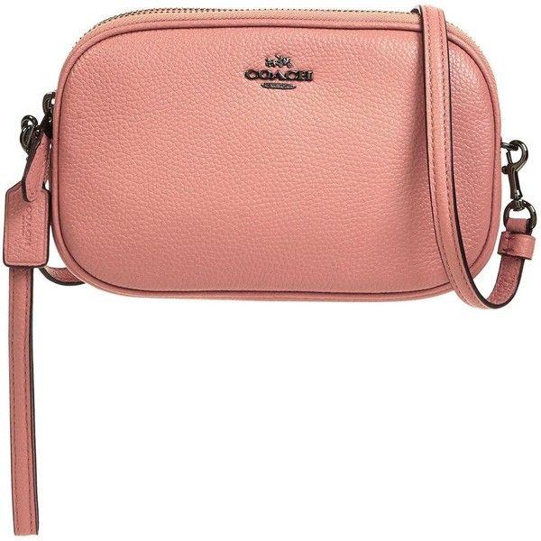 Cross Body Bags - Pebbled Leather Crossbody Clutch Navy - blue - Cross Body Bags for ladies Coach xd9FoJTRrj