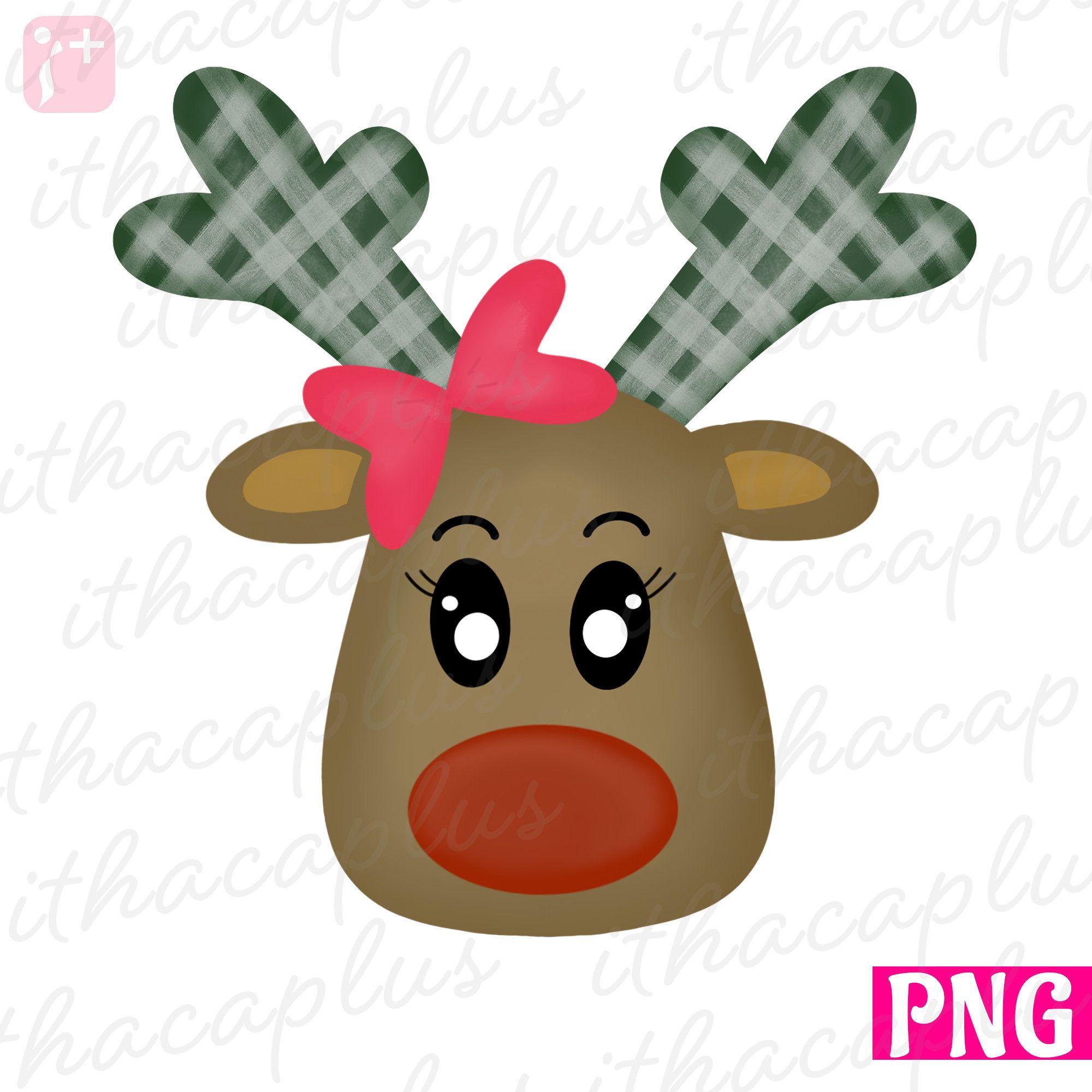 Reindeer Rudolph Png For Sublimation Christmas Reindeer Etsy Clip Art Printable Artwork Christmas Reindeer