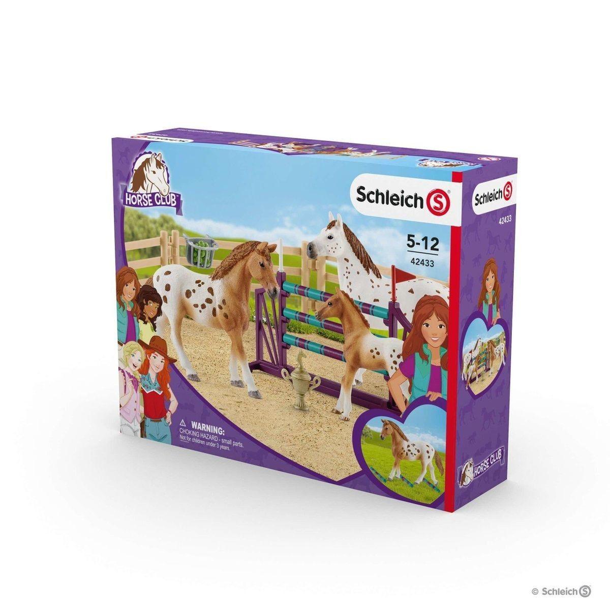 Schleich 42433 Set Figurine Et Accessoires L Entrainement Au Concours D Horse Club Lisa Taille Tu Sets Lisa
