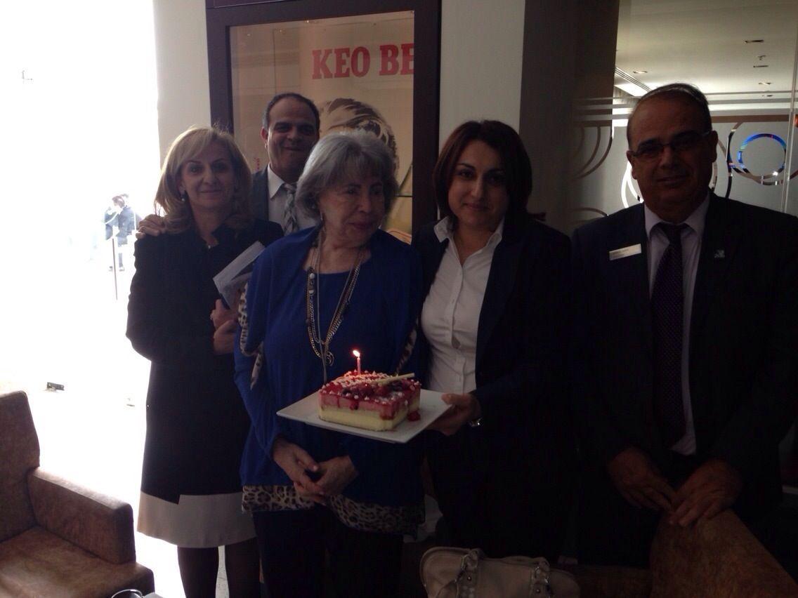 Birthday Celebration!  The Hilton Park Nicosia would like to share a birthday celebration for one of our long-term stay guest Mrs. Economou.