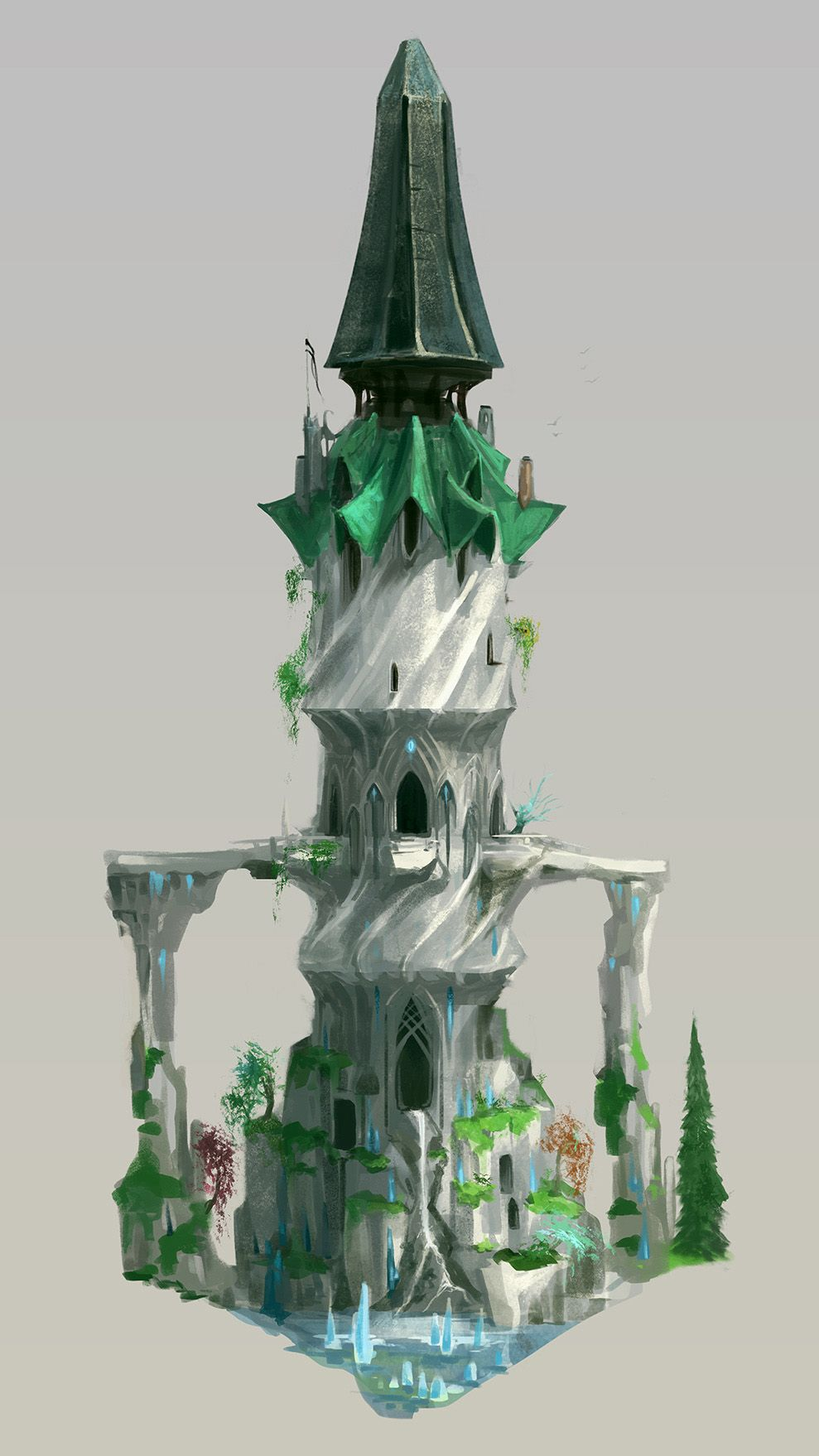 The Elf City and the Tower of Voices