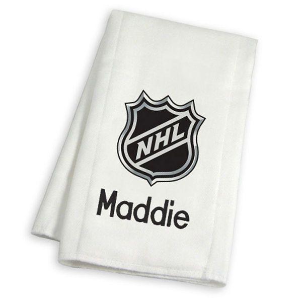 New York Islanders Personalized Burp Cloth