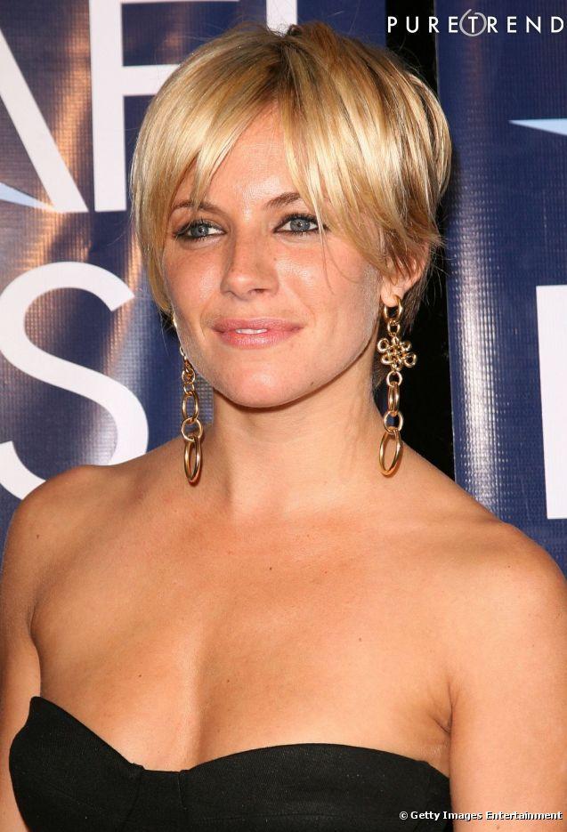PHOTOS - Coiffure visage ovale L'Américaine change de look, troquant ses longues mèches blondes ...