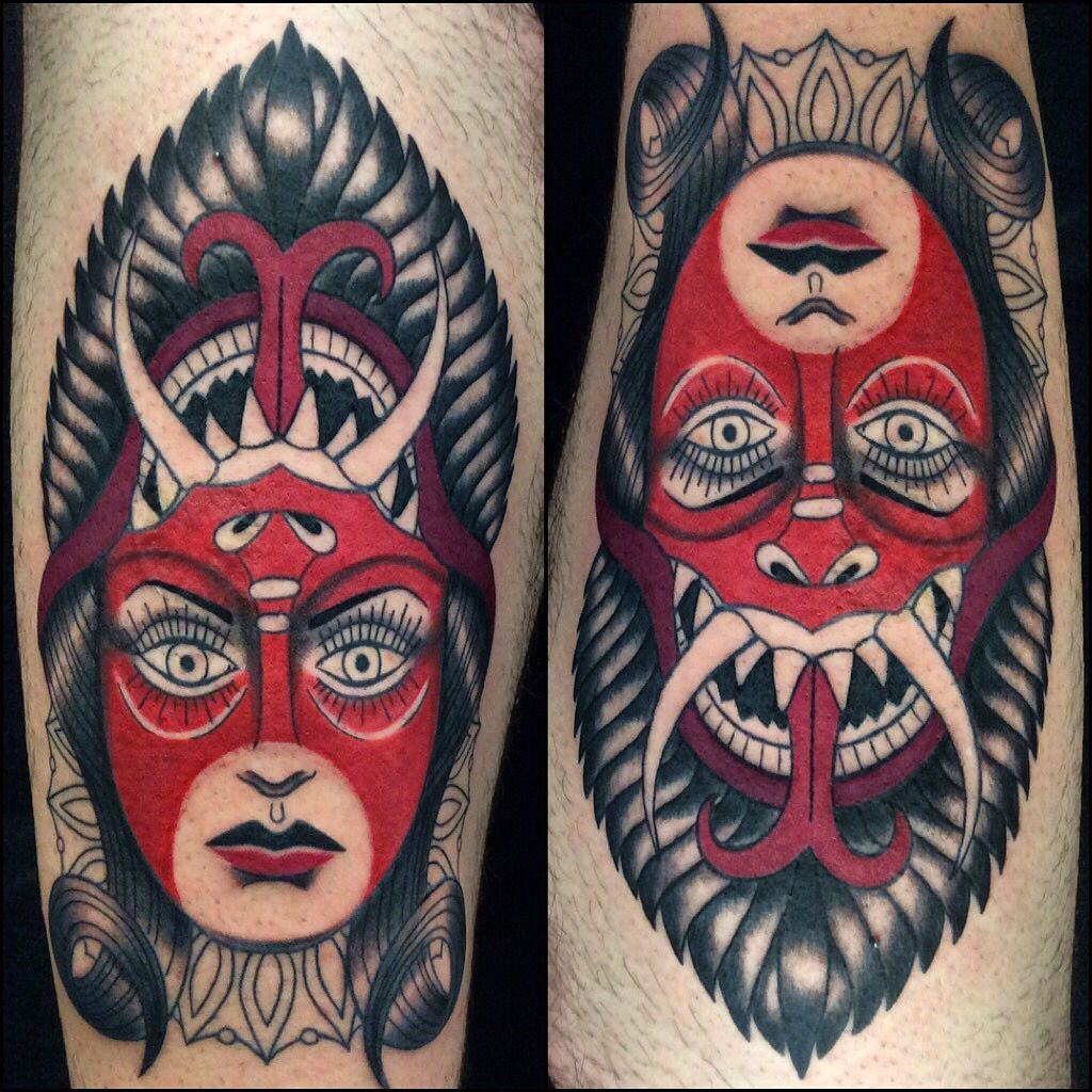 devil girl neo traditional tattoo by amanda mariscal instagram mexcellentme tattoo pinterest. Black Bedroom Furniture Sets. Home Design Ideas