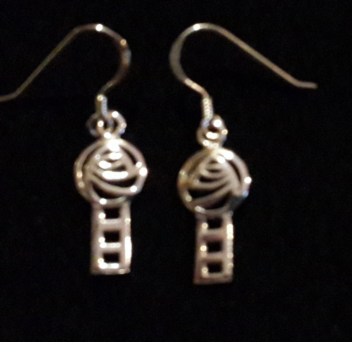 dangle swirl jewelry brass earrings thai handmade caymancode designs fashion