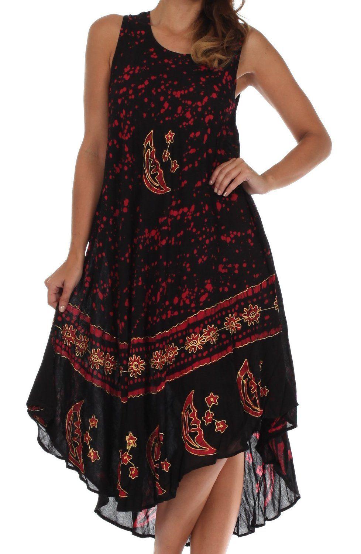Sakkas Women's Batik Moon and Stars Caftan Tank Dress - CHECK OUT @ http://www.getit4me.org/fashion100/1238/?336