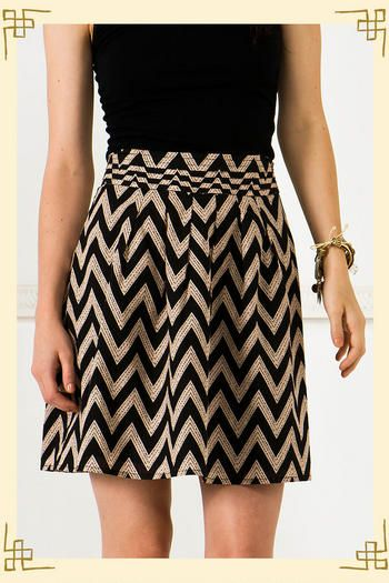 Bought this cute skirt today (because I love chevron stripes and @Keri Bradford inspired me with all of her cute skirts!) :)