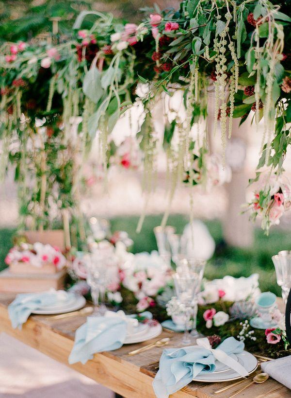 Whimsical Alice In Wonderland Wedding Theme Greenery