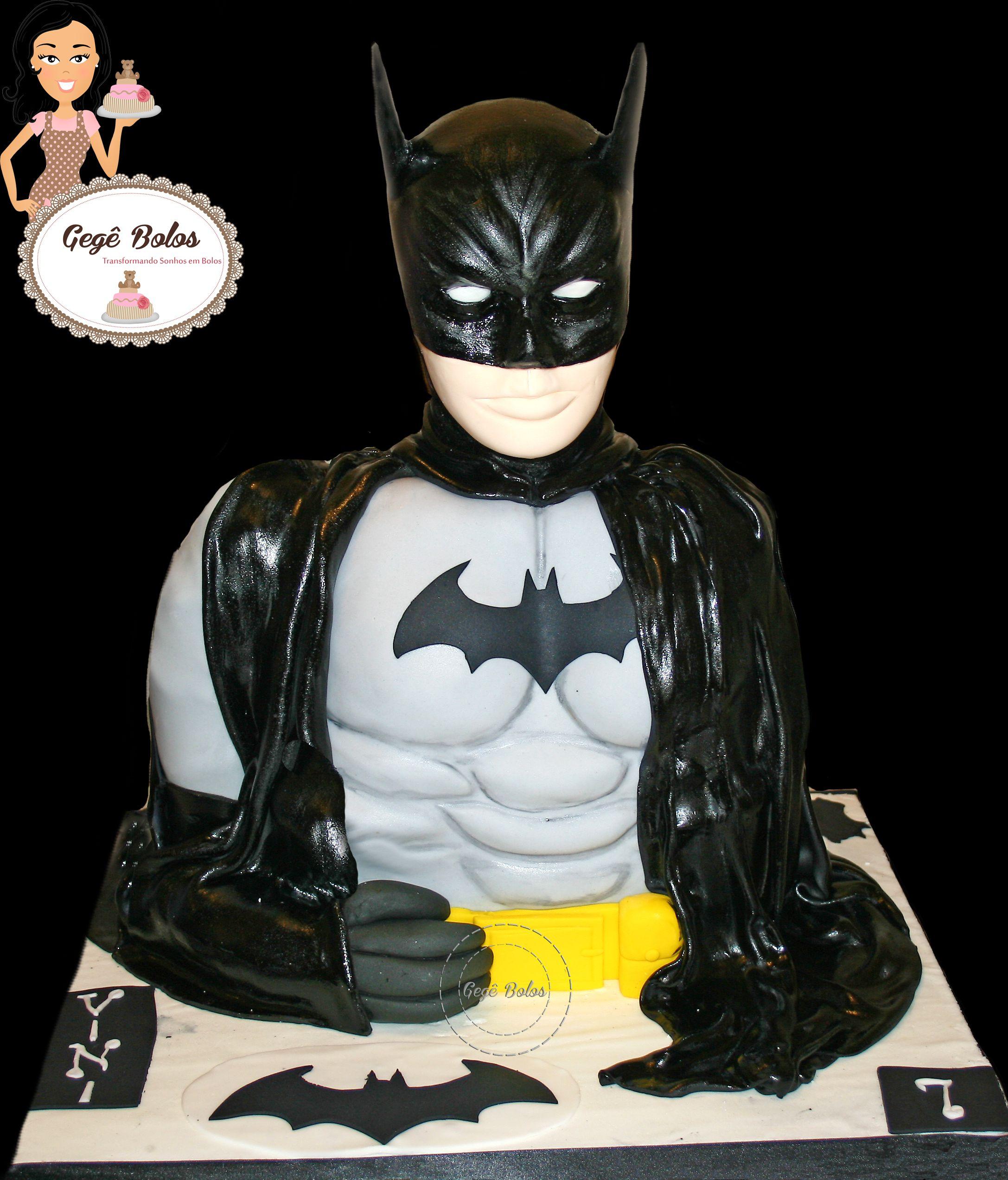 Batman todo esculpido em bolo !!! Totalmente comestível!!!