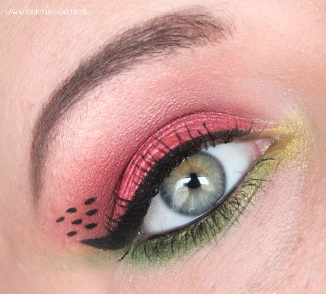 Water Melon Eye Make Up Via Looks Like Valerie Make Up Tips