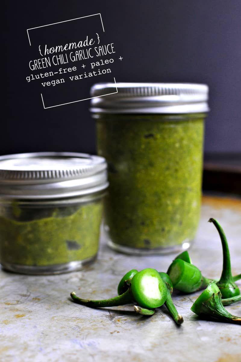 Green chiligarlic sauce glutenfree paleo vegan