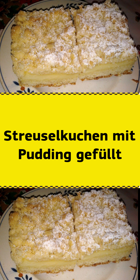 Photo of My Blog | Crumble cake filled with pudding Ingredients for: For the shortcrust pastry: …