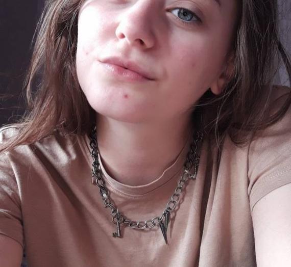 Chain Skulls Rings spike Punk Emo Edgy Grunge Handmade Girls Boys Men Women Necklace Chain Jewellery