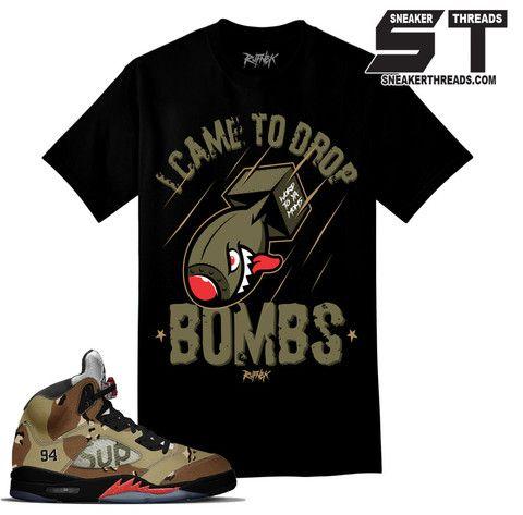 92aa45b9360973 Shirts match Jordan 5 supreme camo sneaker retro 5 supreme camo tees ...