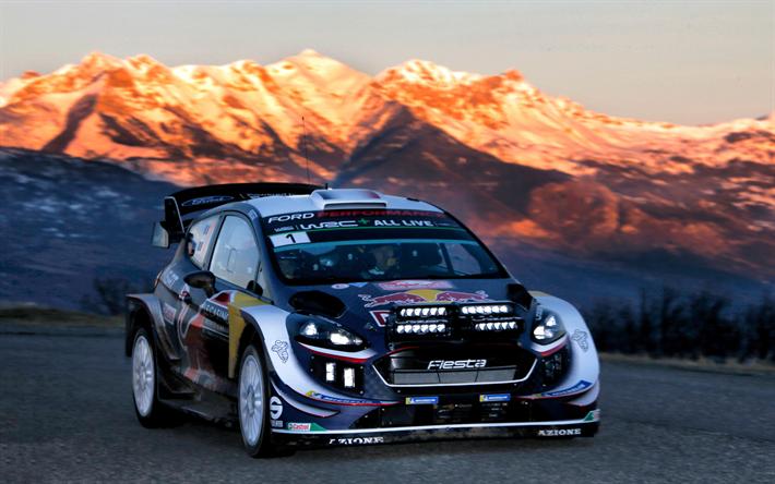 Download wallpapers Sebastien Ogier, 4k, WRC, Rally Monte
