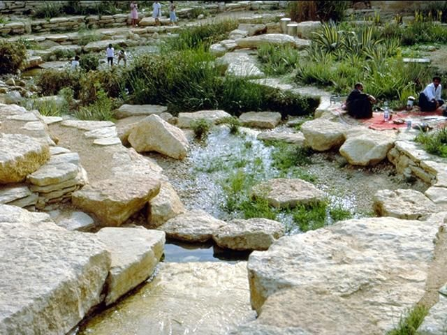 Diplomatic Quarter Landscaping And Al Kindi Plaza Landscaping With Indigenous And Low Maintenance Materials Was Used Desert Landscaping Landscape Waterscape