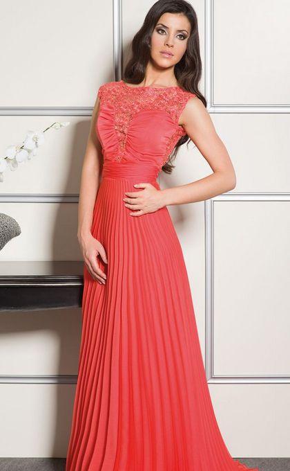 Vestidos Largos Color Salmon Vestidos Vestido Madrinha E