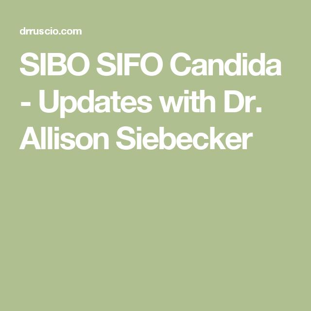SIBO Updates with Dr  Allison Siebecker | Health & Home